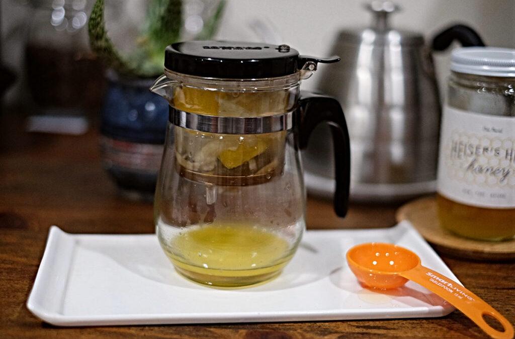 Cannabis Recipes (CBD) — Refreshing Ginger Orange CBD Tea With Honey