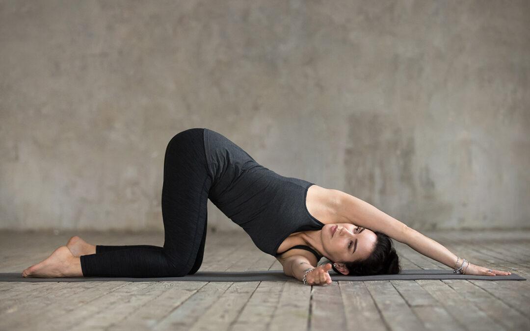 Thread the Needle Yoga Pose with Sarah